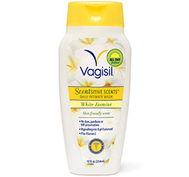 Vagisil Scentsitive Scents Plus Daily Wash, White Jasmine