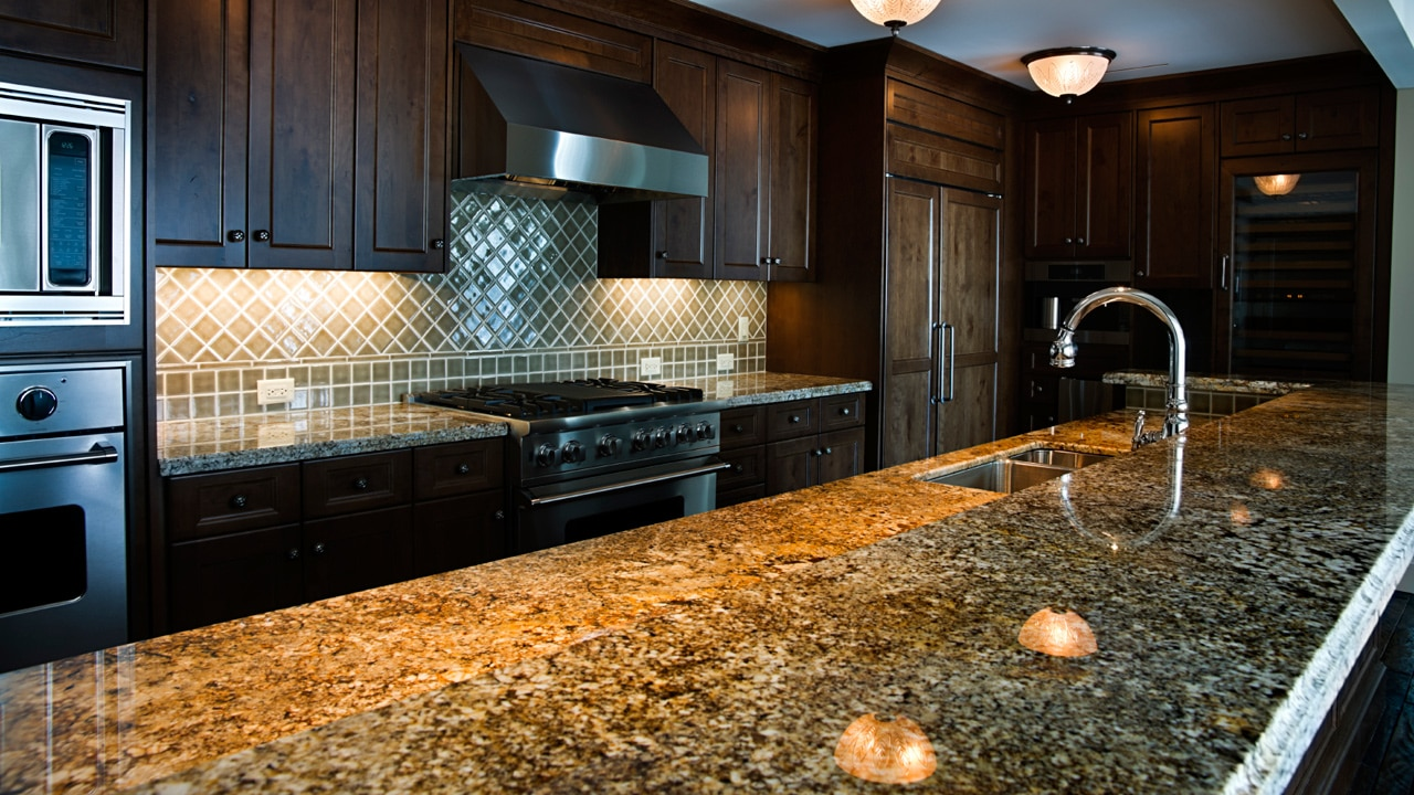 for cabinets care kitchen with resin countertops granite f white concept waterfall absolute how countertop black backsplash in honed to unbelievable and trends of astonishing pretty