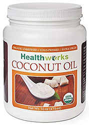 Healthworks Coconut Oil Orgqanic Cold Pressed