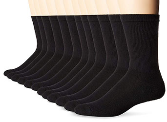 Hanes Men's 10-Pack Classics Cushion Crew Socks