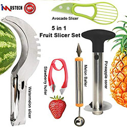Slicer Set of 5 Pineapple Corer Slicer
